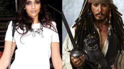 Sonam Kapoor and Johnny Depp in Pirates of the Caribbean 5