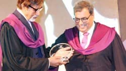 Amitabh Bachchan honoured by Subhash Ghai at Whistling Woods International
