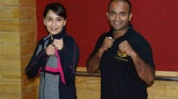 Madhuri Dixit with trainer Shifu Kanishka