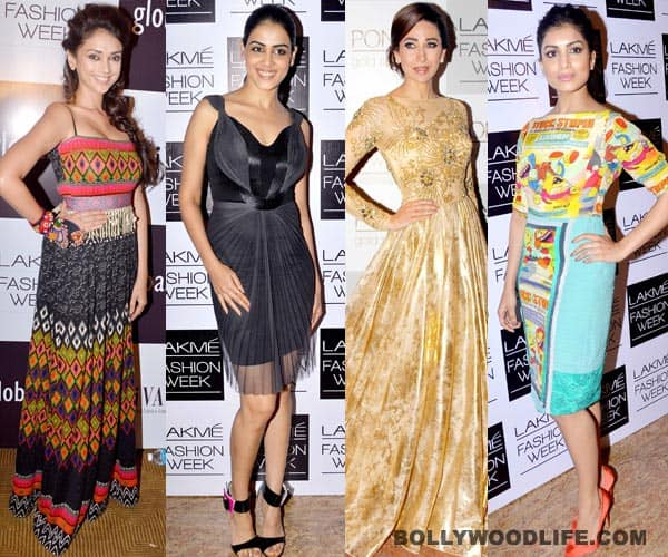 Lakme Fashion Week 2013: Karisma Kapoor, Genelia D'Souza, Aditi Rao Hydari, Pallavi Sharda – who is the most stylishly dressed lady of the lot?