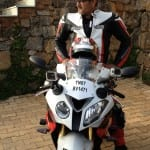 Ajith shows off his BMW bike in style