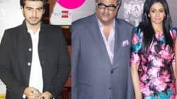 Arjun Kapoor, Boney Kapoor and Sridevi