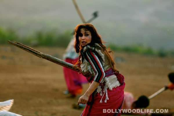 Madhuri Dixit is bristling with rage in Gulaab Gang!