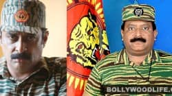 Left: Tamil actor Ajay Ratnam; Right: LTTE leader Prabhakaran