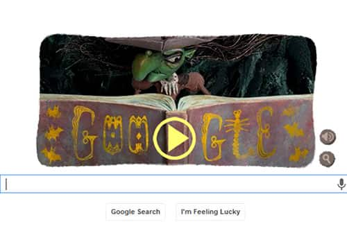Halloween special: Play the Google doodle game and become a witch!