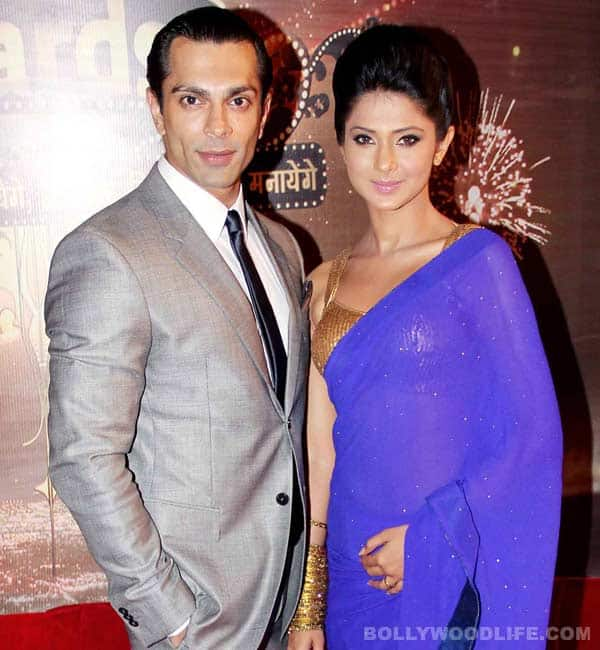 Karan Singh Grover with beautiful, sexy, cute, Wife Jennifer Winget