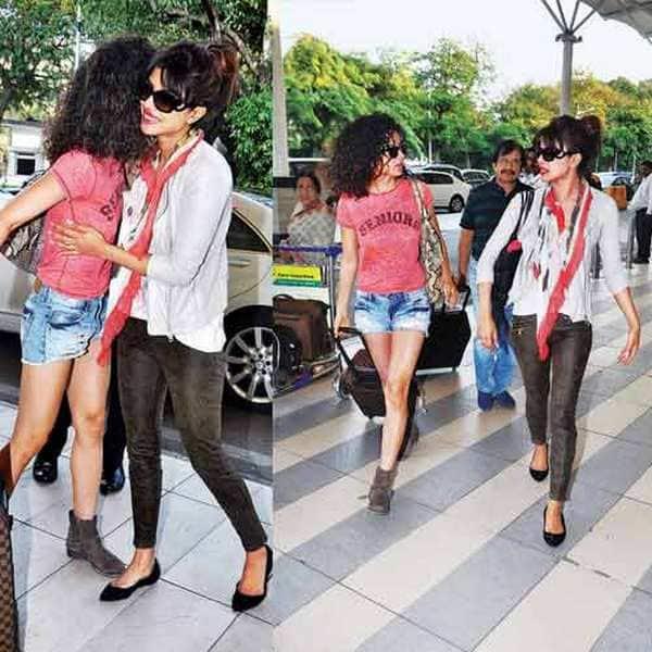 Priyanka Chopra and Kangna Ranaut hug each other – See pic!