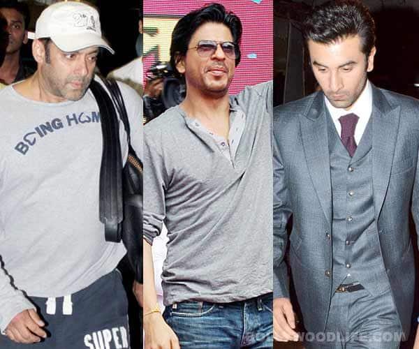 Shahrukh Khan, Salman Khan and Ranbir Kapoor flaunt shades of grey!