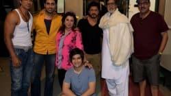 Amitabh Bachchan bonds with Shahrukh Khan