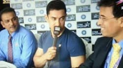 Aamir Khan at Wankhede stadium to watch Sachin Tendulkar's last test match
