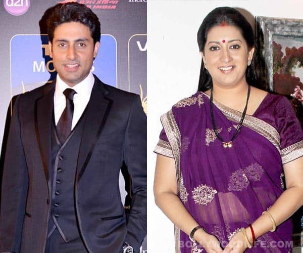 Smriti Irani to play Abhishek Bachchan's mother in Mere Apne