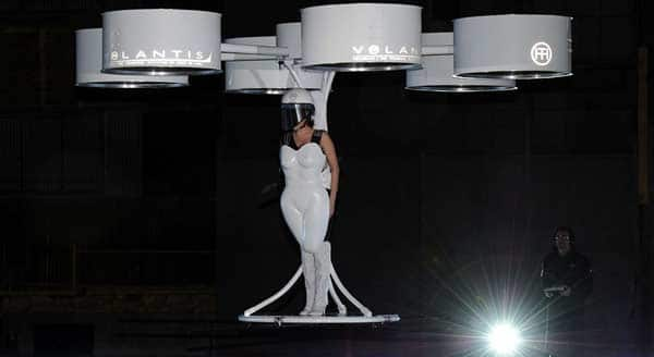 Lady Gaga wears world's first 'flying dress'