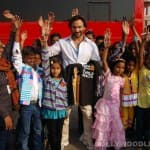 Who visited Saif Ali Khan on the sets of Bullett Raja?