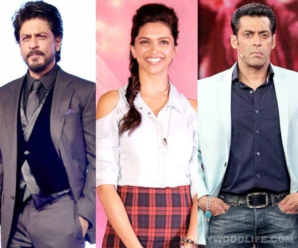 Are Salman Khan and Shahrukh Khan fighting over Deepika Padukone?