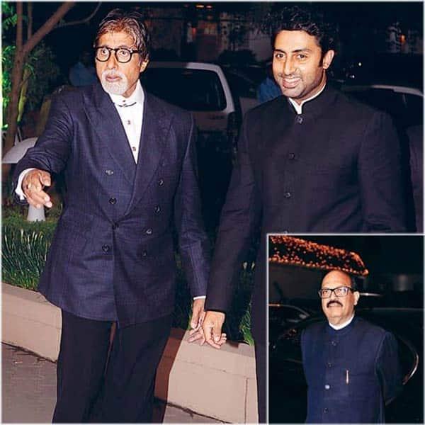 Amitabh Bachchan hugs Amar Singh
