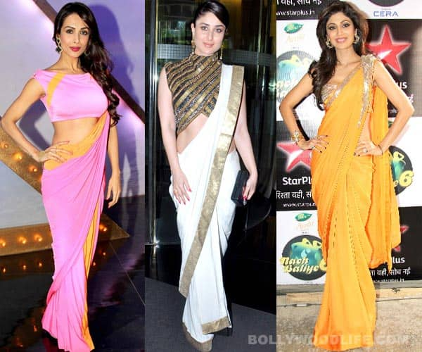 Kareena Kapoor Khan, Shilpa Shetty or Malaika Arora Khan: Who looks sexy in a saree?
