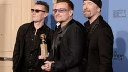 U2 wins golden globe award
