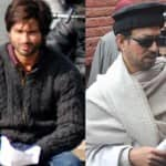 Why did Shahid Kapoor and Irrfan Khan need police protection during the shoot of Haider in Srinagar?