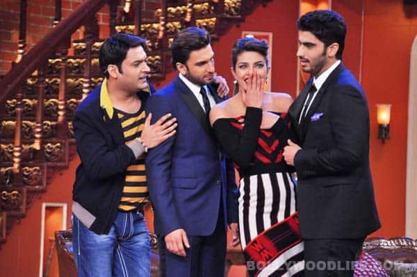 Comedy Nights with Kapil: Ranveer Singh, Arjun Kapoor and Priyanka Chopra  add romance, action and drama to the show!