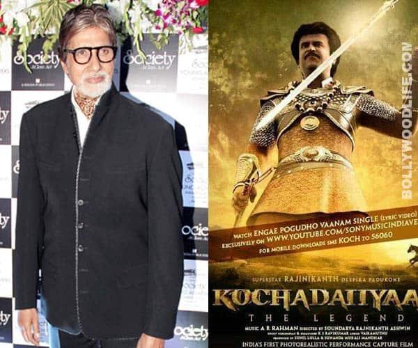 Is Amitabh Bachchan promoting Rajinikanth's Kochadaiiyaan?