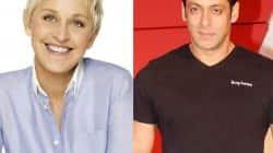 Elle DeGeneres and Salman Khan