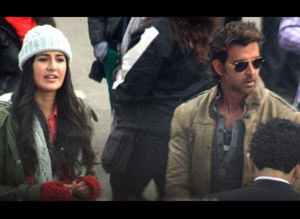 What happened when Hrithik Roshan and Katrina Kaif were shooting for Bang Bang in the capital?