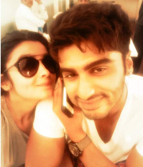 After Salman Khan and Jacqueline Fernandez, Alia Bhatt and Arjun Kapoor pose for a selfie!