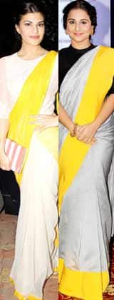 Jacqueline Fernandez or Vidya Balan: Who draped the saree better?