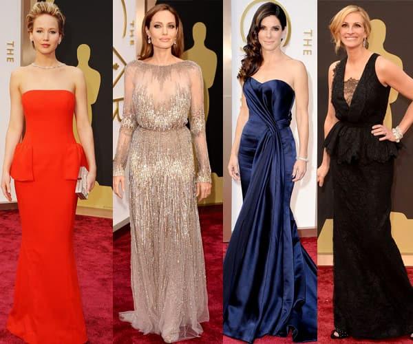 Angelina Jolie, Julia Roberts, Sandra Bullock and Jennifer Lawrence: Who was best dressed at Oscars 2014?