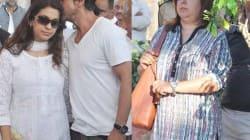 Juhi Chawla, Shahrukh Khan, Farah Khan at Bobby Chawla's funeral