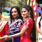 Drashti Dhami, Gunjan Uttreja, Suchitra Pillai enjoy at Colors TV's Holi celebration