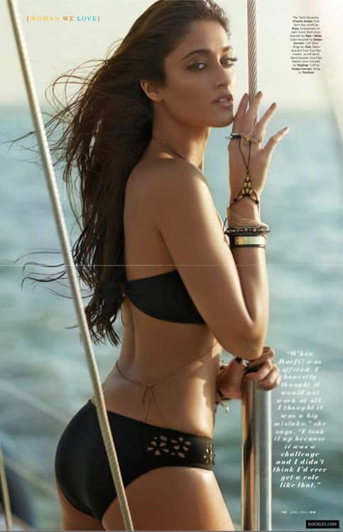 Ileana D'Cruz hot in bikini magazine saleem hot in swimsuit