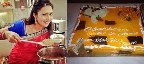 Ye Hai Mohabbatein: Divyanka Tripathi aka Ishita treats the crew with halwa on the show's 100 episode completion!