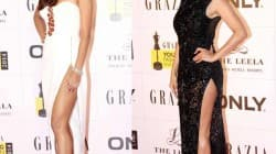 Esha Gupta or Sophie Choudry: Who looked sexier in a thigh-high slit gown?