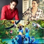 What did Imran Khan and Sonakshi Sinha do during the dubbing of Rio 2?