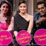 Koffee with Karan 4 awards: What do Salman Khan, Alia Bhatt and Kareena Kapoor deserve to win?