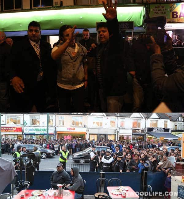 Saif Ali Khan manages crowd on the sets of Humshakals!