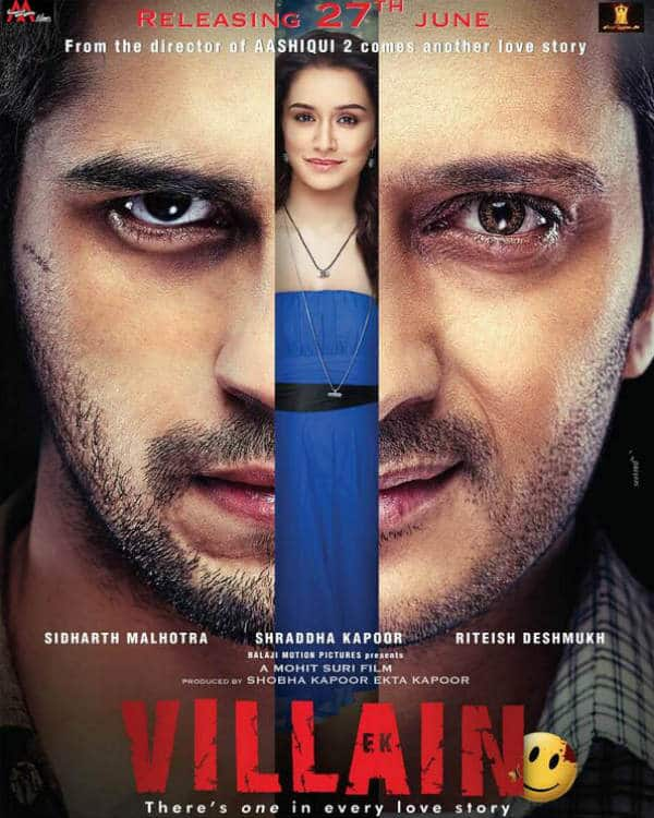 Ek Villain poster: Riteish Deshmukh turns a baddie in Sidharth Malhotra and Shraddha Kapoor's love story!