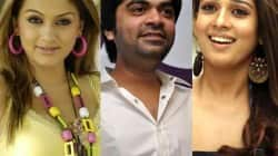 Simbu bonds with ex-girlfriends Nayantara and Hansika Motwani!