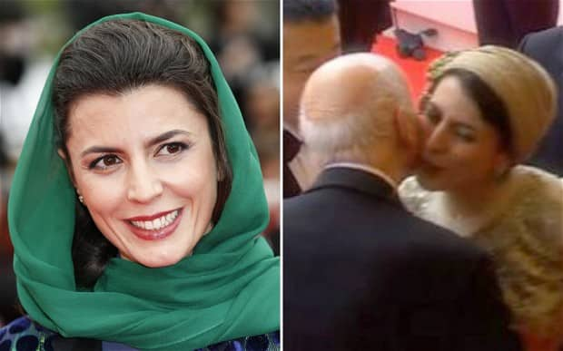 Iranian heroine Leila Hatami apologises for kissing Gilles Jacob at Cannes Film Fest because of protests