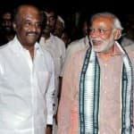 Narendra Modi learns the tricks of trade from Rajinikanth!