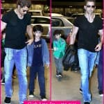 Spotted: Hrithik Roshan out with his kids
