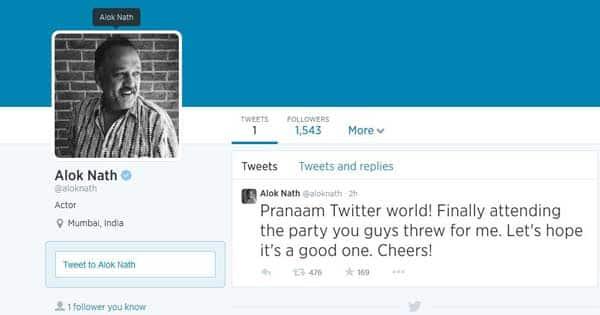 After Arjun Kapoor, sanskari babuji Alok Nath joins Twitter!
