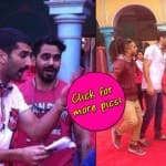 Aditya Roy Kapur and Parineeti Chopra play Holi on the sets of Daawat-e-Ishq
