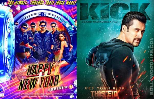 It's Salman Khan's Kick versus Shah Rukh Khan's Happy New Year for fans!