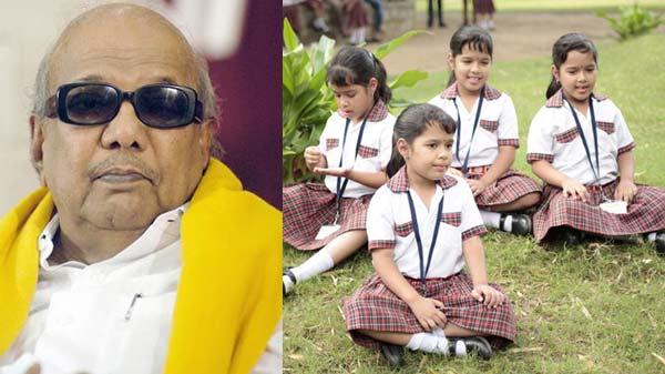 Enna Satham…'s quadruplet actors get rechristened by Karunanidhi