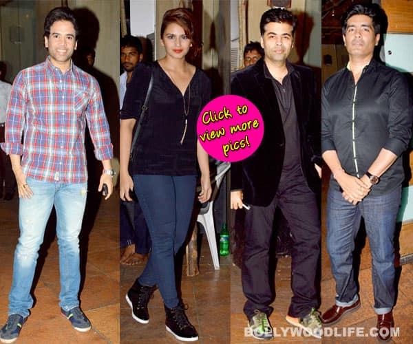 Karan Johar, Manish Malhotra, Sakshi Tanwar and Huma Qureshi attend Ekta Kapoor's birthday