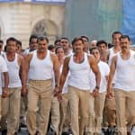 Ajay Devgn gets 2500 cops shirtless in Singham Returns!
