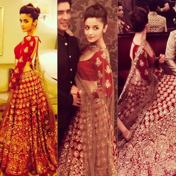 Alia Bhatt: I think when you're walking in a Manish Malhotra outfit, it's a big day