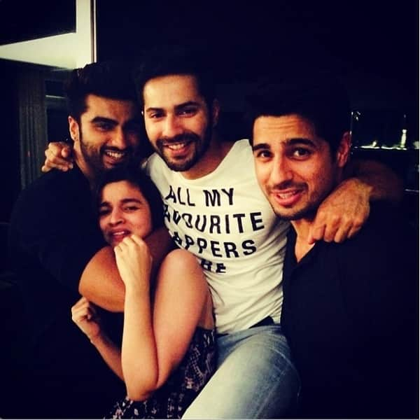 Alia Bhatt, Varun Dhawan, Arjun Kapoor and Sidharth Malhotra's pic that says it all!